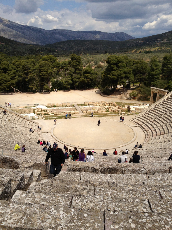 The theater at Epidauros
