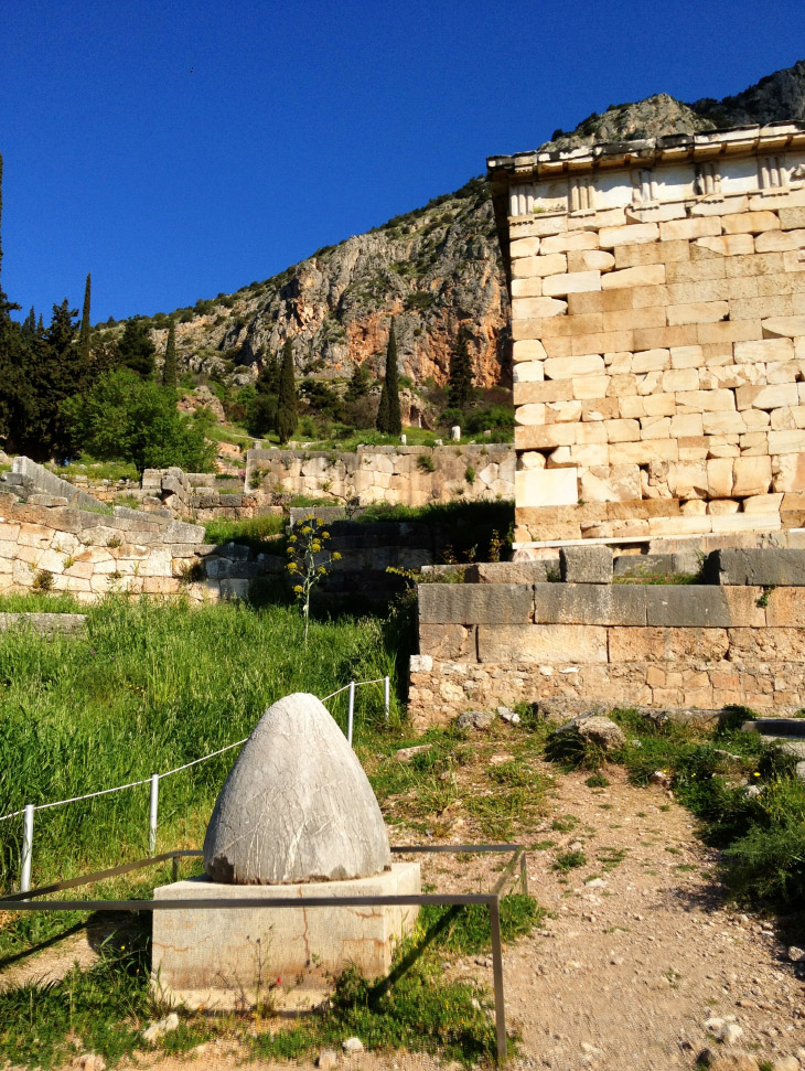 The Omphalos at Delphi, or the rock eaten by Cronos, who believed it was his infant son Zeus