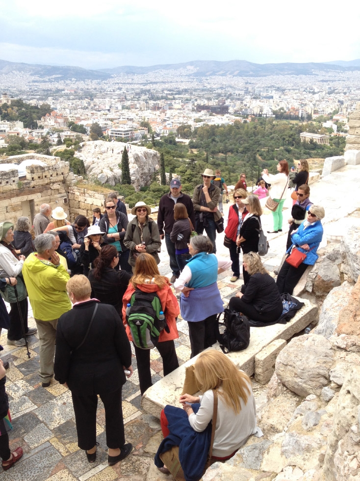 Gathered on the Acropolis