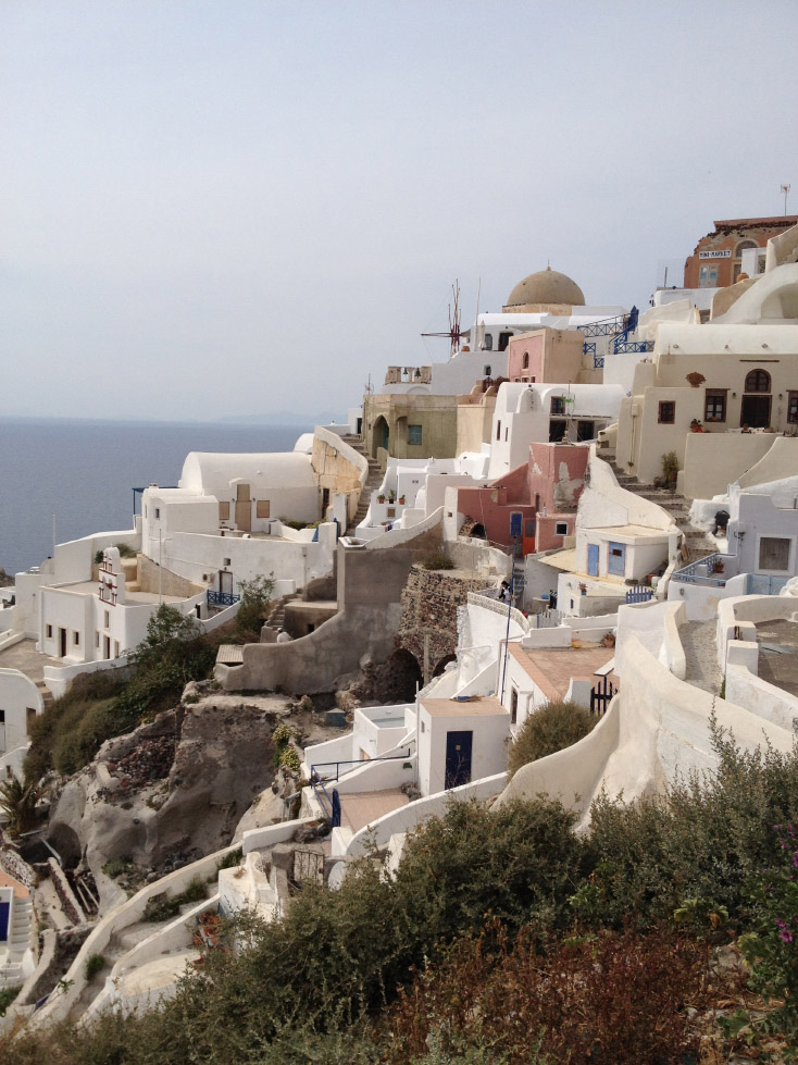 The village of Oia, on Santorini