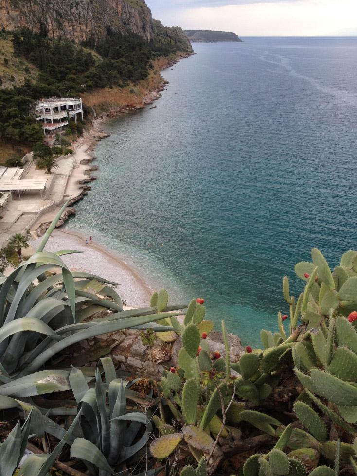 A beach in Nafplio