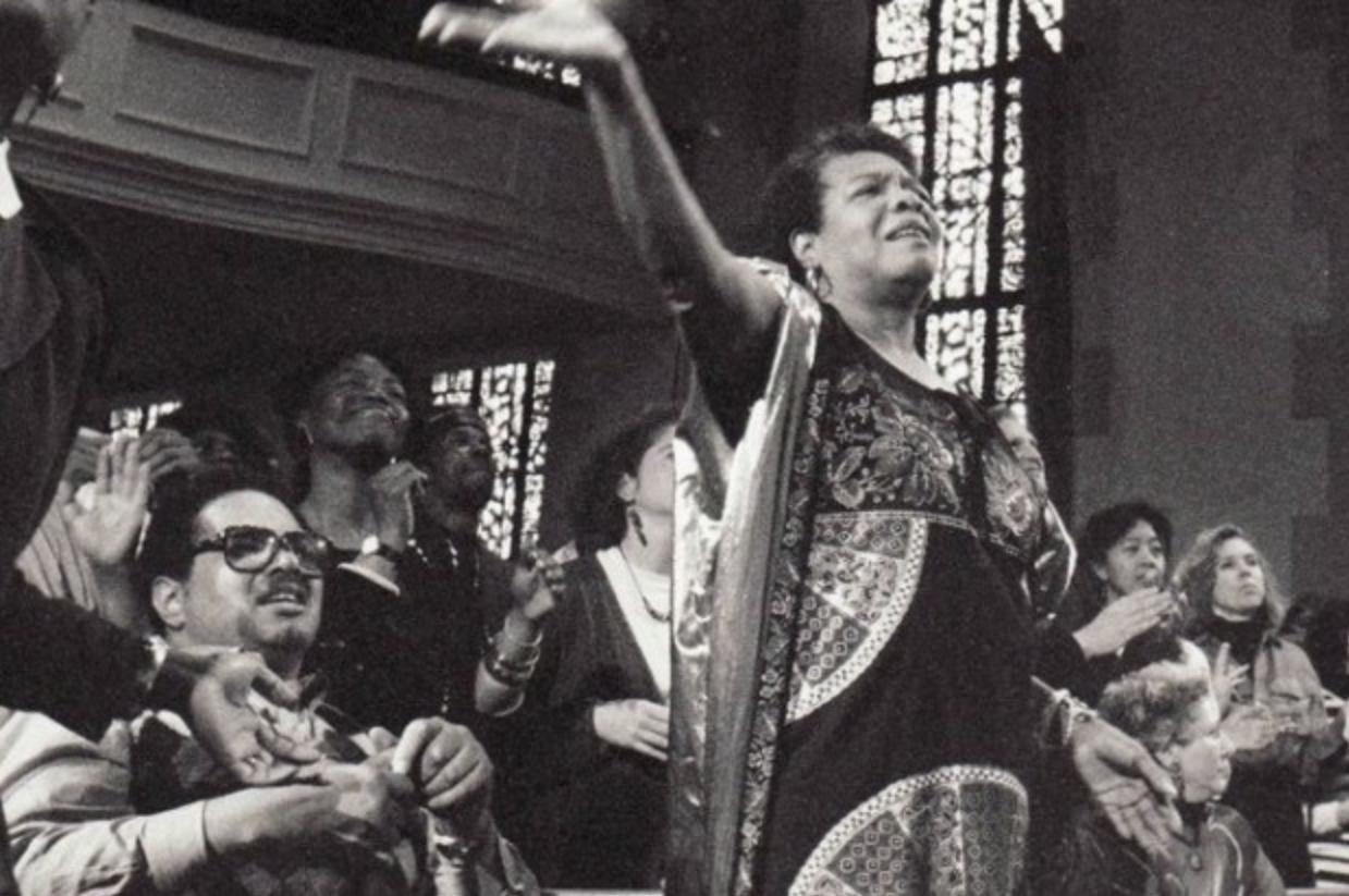 Maya Angelou at Glide Memorial