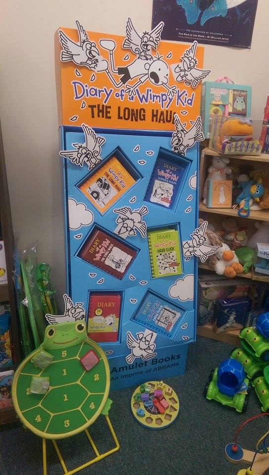 Home sweet home for the new mixed Wimpy Kid display,