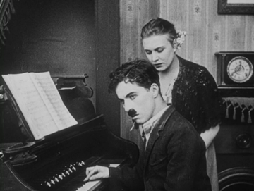 chaplin plays piano